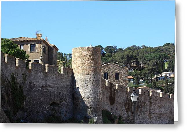 Sand Castles Greeting Cards - Tossa de Mar Costa Brava Greeting Card by Kevin F Cook
