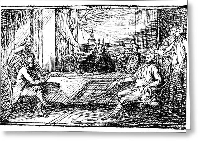 Treaty Of Paris, 1783 Greeting Card by Granger