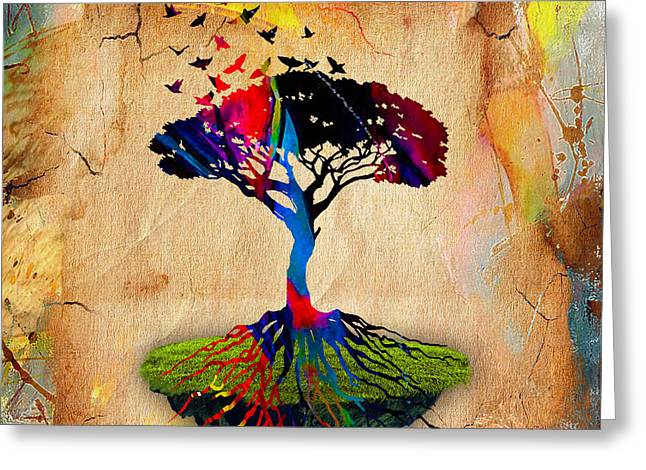 Tree Of Life Greeting Cards - Tree Of Life Painting Greeting Card by Marvin Blaine