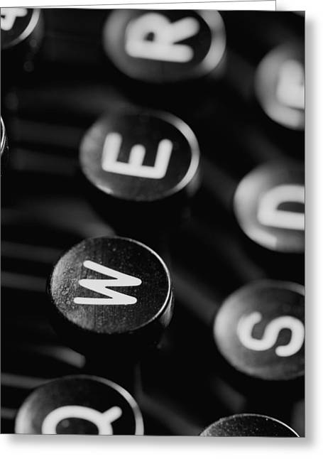 Schreibmaschine Greeting Cards - Typewriter keys Greeting Card by Falko Follert