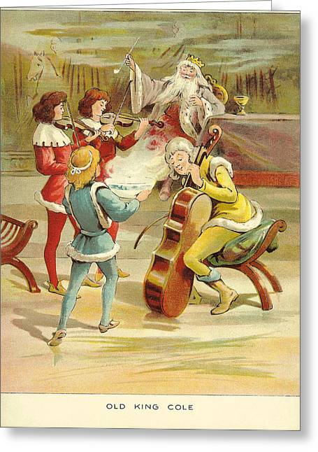 Nursery Rhyme Greeting Cards - Uk Illustrations Book Plate Greeting Card by The Advertising Archives