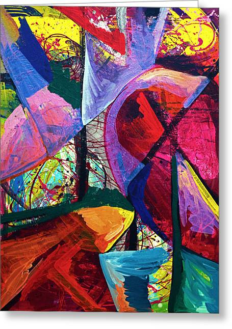 Morphing Paintings Greeting Cards - Untitled Greeting Card by Laura Tarnoff