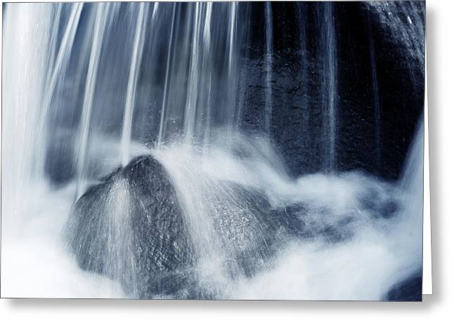 Rapids Greeting Cards - Waterfall Greeting Card by Les Cunliffe