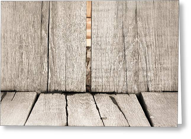 Wood Background Greeting Card by Tom Gowanlock