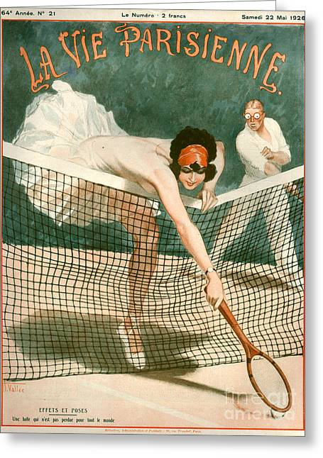 Paris Greeting Cards - 1920s France La Vie Parisienne Magazine Greeting Card by The Advertising Archives