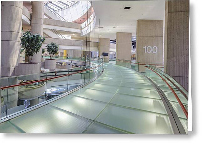 Renaissance Center Greeting Cards - 100 in the Renaissance Center in Detroit  Greeting Card by John McGraw