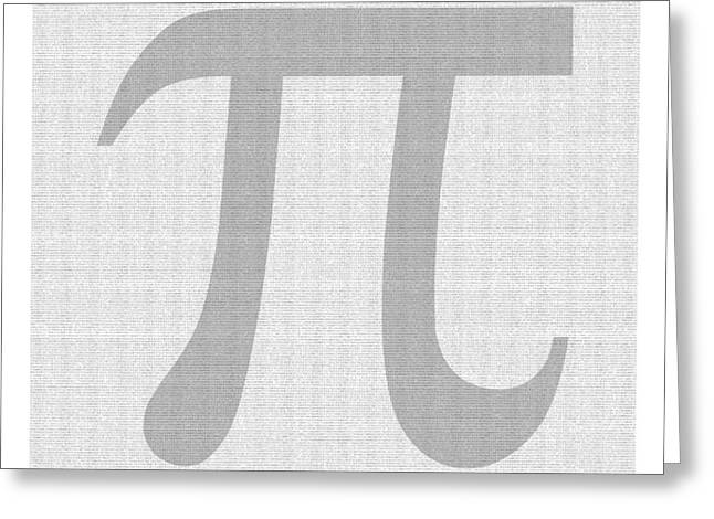 100 Thousand Pieces of Pi Greeting Card by Ron Hedges