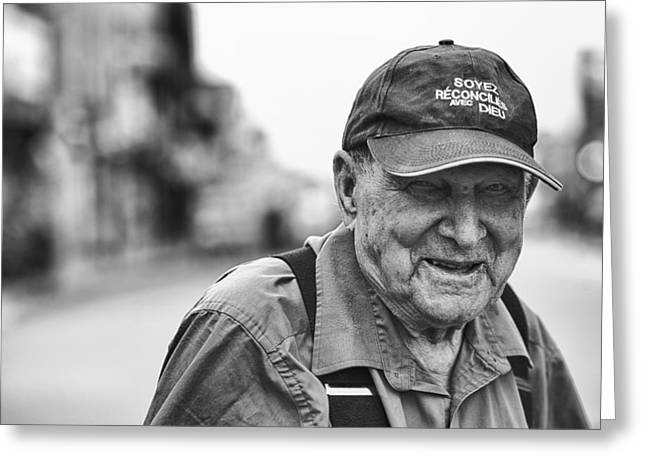 White Flannels Greeting Cards - 100 Years Old Man Greeting Card by Joel  Bourgoin