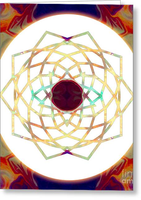 Sahasrara Greeting Cards - 1000 Petalled Lotus Abstract Chakra Art by Omaste WItkowski Greeting Card by Omaste Witkowski