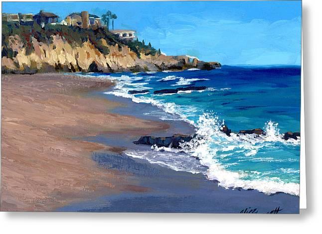 Cliffs And Water Greeting Cards - 1000 Steps Beach in Laguna Beach California Greeting Card by Alice Leggett