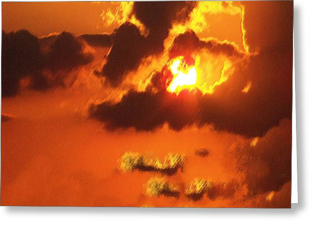 Louisiana Pastels Greeting Cards - 1002206 Louisiana Sun Set Greeting Card by Garland Oldham