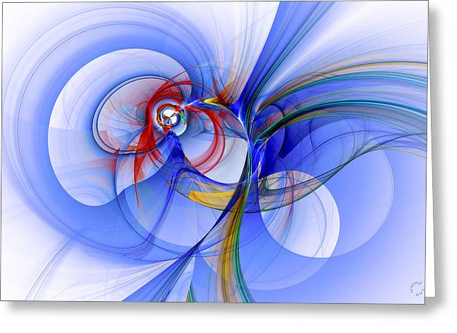 Generative Abstract Greeting Cards - 1003 Greeting Card by Lar Matre