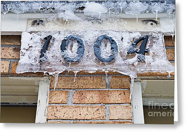 Old Town Digital Greeting Cards - 1004 Main Street Small Town USA - Color Greeting Card by Andee Design