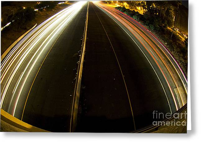 Los Angeles Freeways Greeting Cards - 101 Hollywood Freeway 16 Greeting Card by Micah May