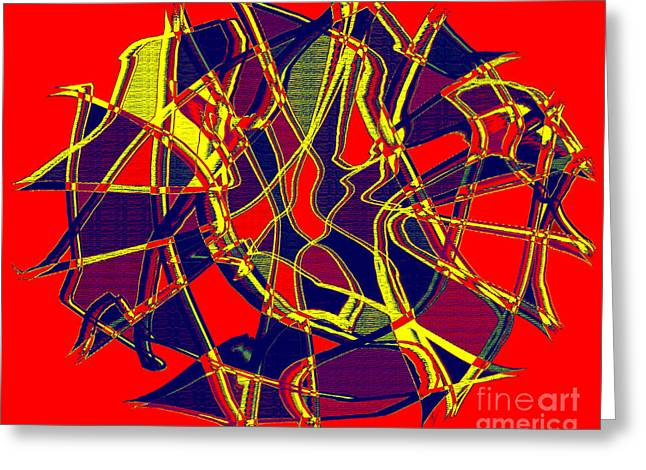 1010 Abstract Thought Greeting Card by Chowdary V Arikatla