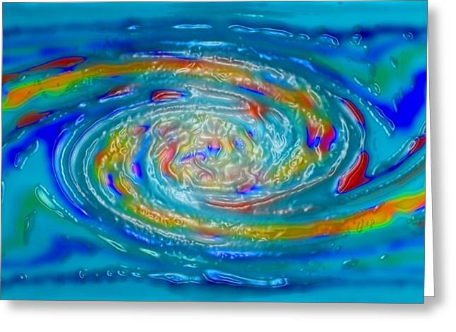 Ocean Art Photos Greeting Cards - Best Art Choice AWARD Original Abstract Oil Painting Modern Contemporary House Wall Deco Gallery Greeting Card by Emma Lambert