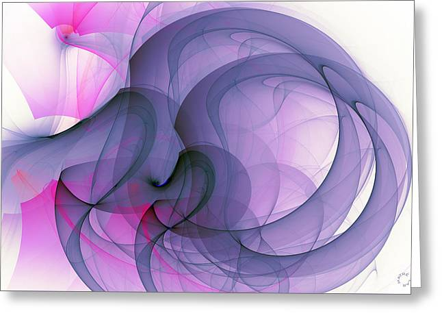 Generative Abstract Greeting Cards - 1023 Greeting Card by Lar Matre