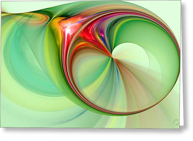 Generative Abstract Greeting Cards - 1028 Greeting Card by Lar Matre