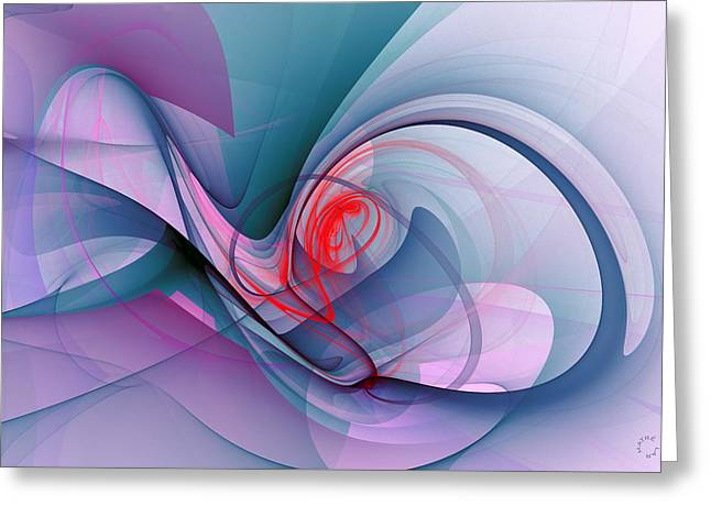 Generative Abstract Greeting Cards - 1037 Greeting Card by Lar Matre