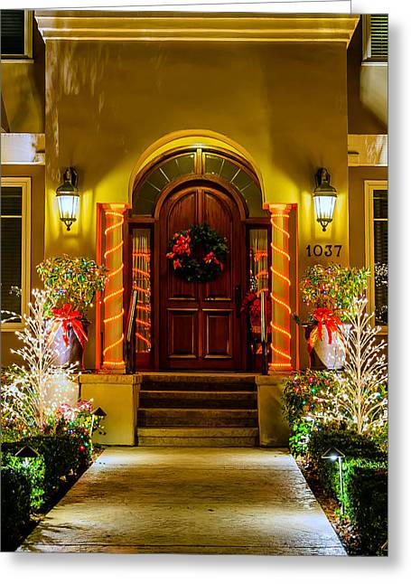 Christmas Doors Greeting Cards - 1037 Greeting Card by Mike Ronnebeck