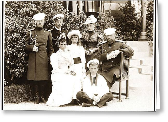 Tsar Alexander Greeting Cards - 104. Russian Imperial Family at Livadia 1892 Print Greeting Card by Royal Portraits