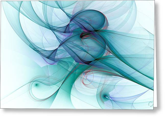Generative Abstract Greeting Cards - 1045 Greeting Card by Lar Matre
