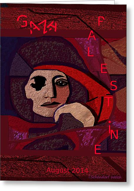 Gaza Greeting Cards - 1051 - Life in Danger Greeting Card by Irmgard Schoendorf Welch