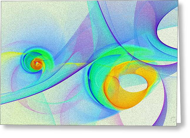 Generative Abstract Greeting Cards - 1053 Greeting Card by Lar Matre