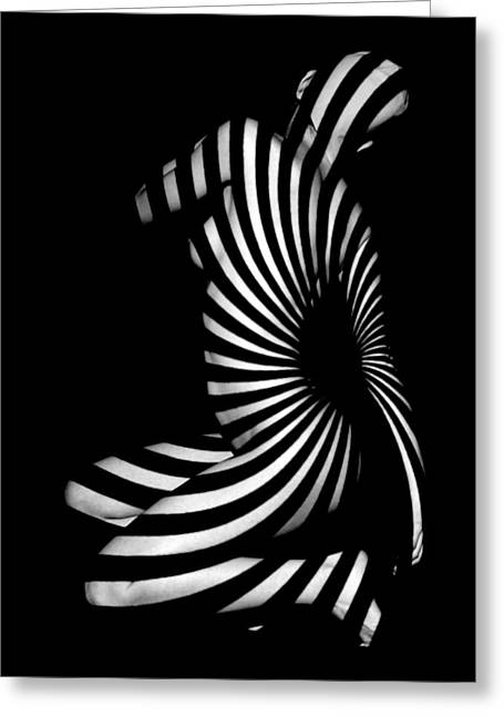 Visionary Artist Greeting Cards - 1055  Experimental Abstract Nude Art Greeting Card by Chris Maher