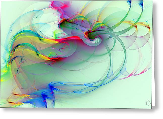 Recently Sold -  - Generative Abstract Greeting Cards - 1061 Greeting Card by Lar Matre