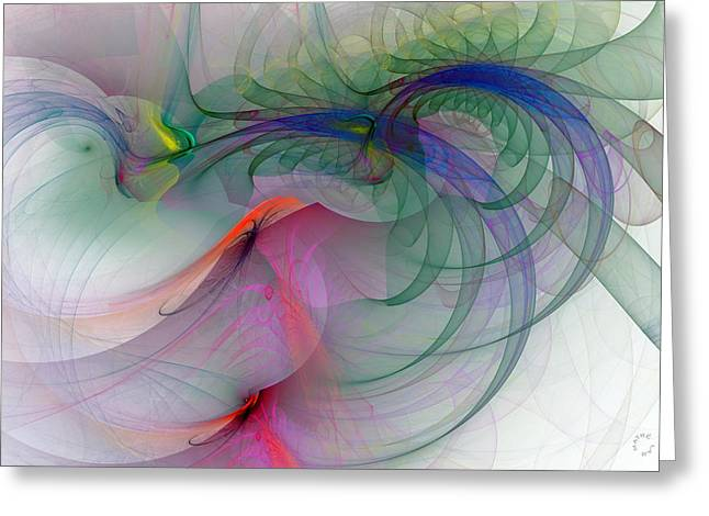 Generative Abstract Greeting Cards - 1063 Greeting Card by Lar Matre
