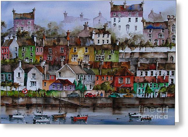 Val Byrne Greeting Cards - 107 Windows of Kinsale Co Cork Greeting Card by Val Byrne