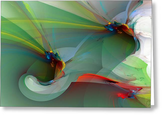 Recently Sold -  - Generative Abstract Greeting Cards - 1085 Greeting Card by Lar Matre