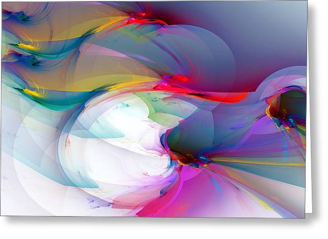 Generative Abstract Greeting Cards - 1091 Greeting Card by Lar Matre