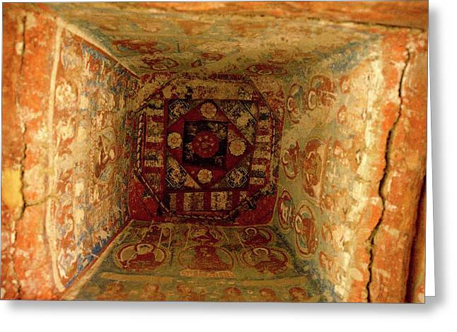 10th Century Murals Of The Ancient Greeting Card by Jaina Mishra