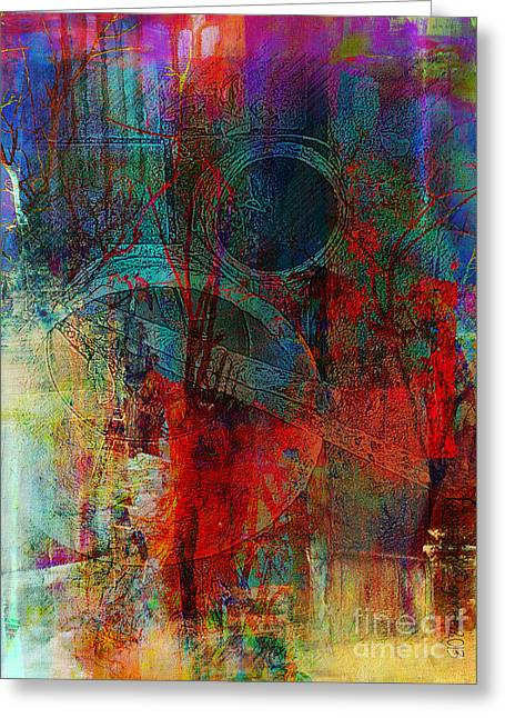 Faniart Africa America Mixed Media Greeting Cards - 10th Dimension Greeting Card by Fania Simon