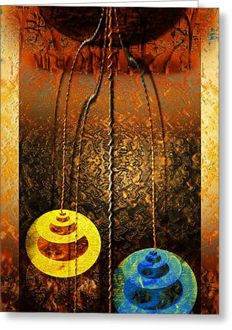 Religious Mixed Media Greeting Cards - Abstract Greeting Card by Tripti Singh