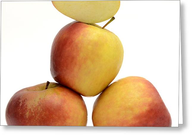 Balance Greeting Cards - Apples Greeting Card by Bernard Jaubert