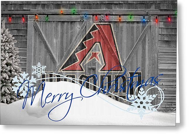Stadium Greeting Cards - Arizona Diamondbacks Greeting Card by Joe Hamilton