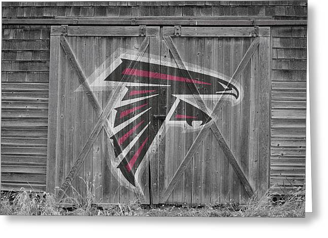 Offense Greeting Cards - Atlanta Falcons Greeting Card by Joe Hamilton