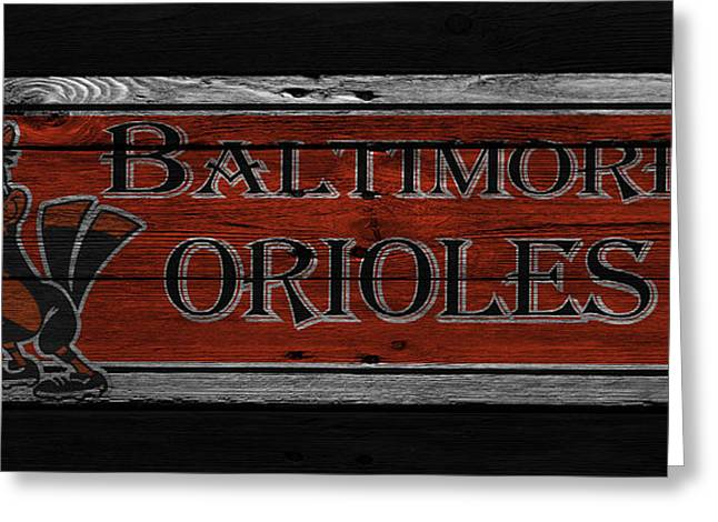 Oriole Greeting Cards - Baltimore Orioles Greeting Card by Joe Hamilton