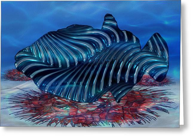 Purple Abstract Print Greeting Cards - Beneath The Waves Series Greeting Card by Jack Zulli