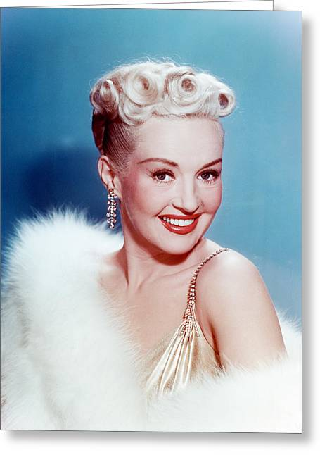 Grable Greeting Cards - Betty Grable Greeting Card by Silver Screen