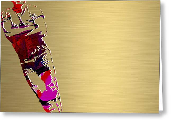 The Boss Greeting Cards - Bruce Springsteen Gold Series Greeting Card by Marvin Blaine