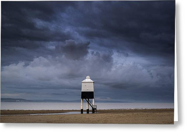 Colorful Cloud Formations Greeting Cards - Burnham lighthouse landscape image sunrise Summer Greeting Card by Matthew Gibson