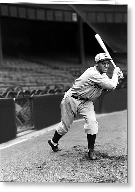 Baseball Bat Greeting Cards - Carl Reynolds Greeting Card by Retro Images Archive