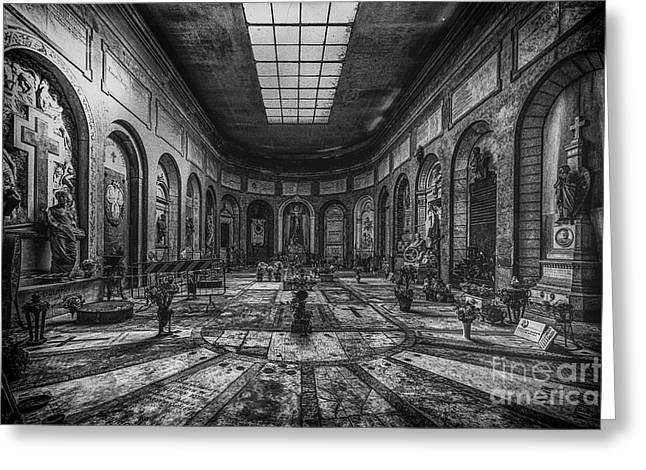 Praying Hands Greeting Cards - Certosa di Bologna Greeting Card by Traven Milovich