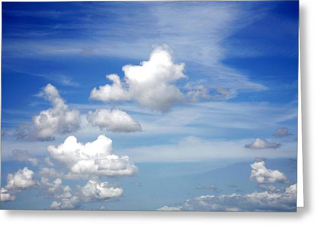 Meteorology Greeting Cards - Clouds Greeting Card by Les Cunliffe
