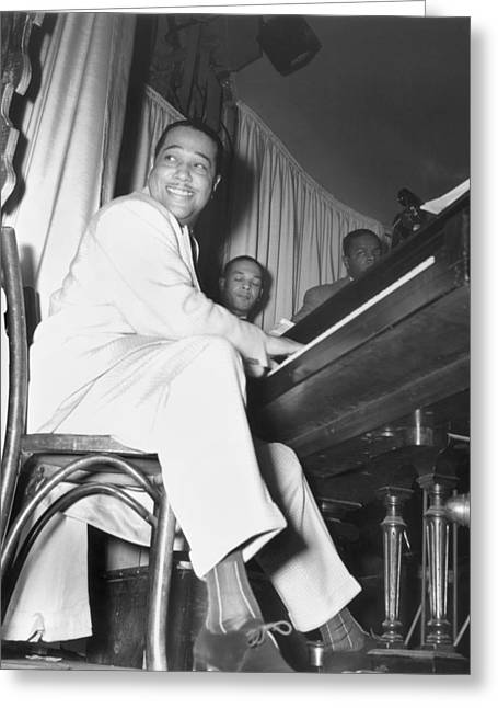 Ellington Greeting Cards - Duke Ellington (1899-1974) Greeting Card by Granger