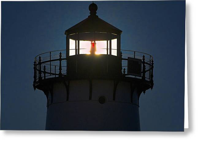 Edgartown Lighthouse Greeting Card by John Greim